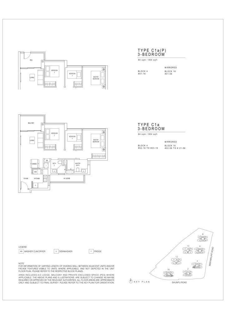 Jadescape floor plans Singapore C1a