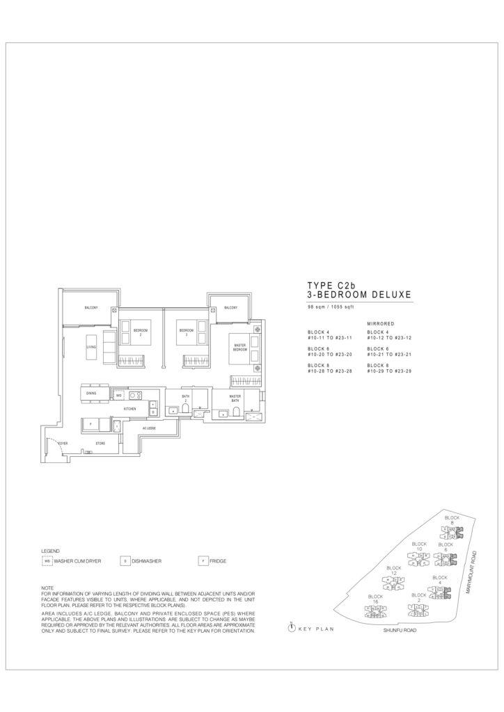 Jadescape floor plans Singapore c2b deluxe