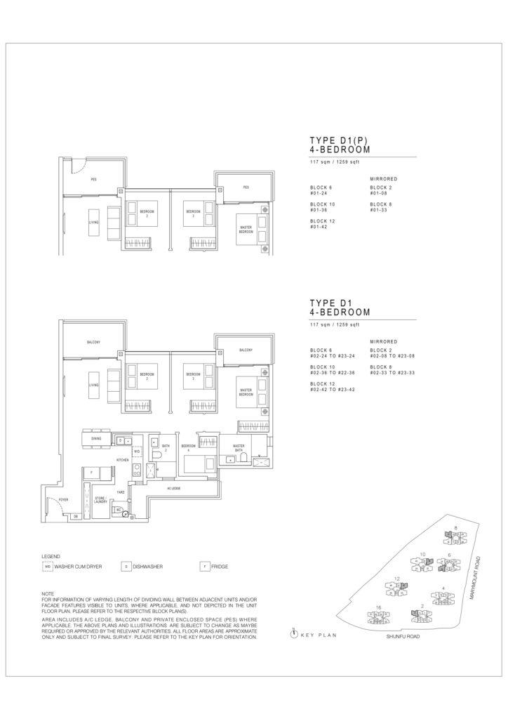 Jadescape floor plans Singapore d1