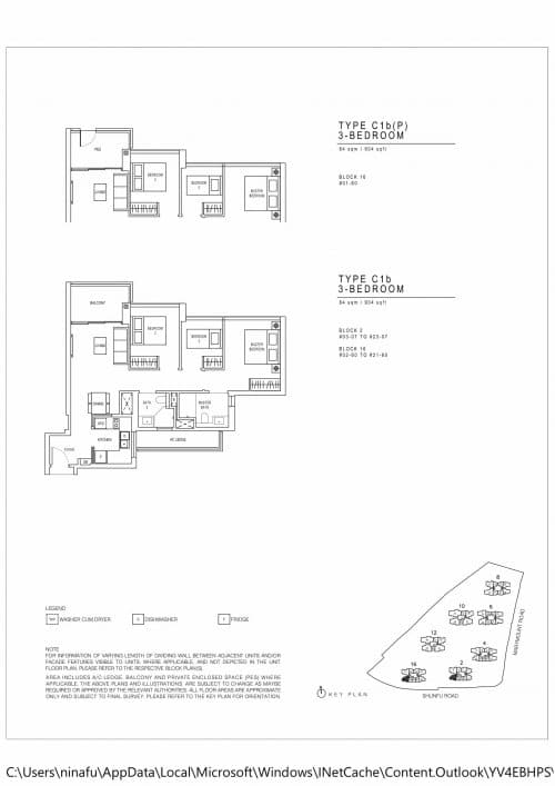 Jadescape floor plans Singapore c1b