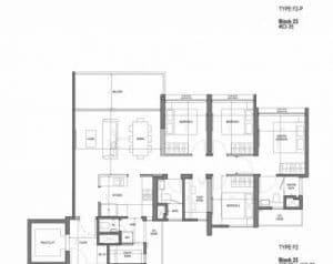 The Woodleigh Residences Floor Plan 4 Bedroom Type F2 378 300 1 Jpg Jadescape